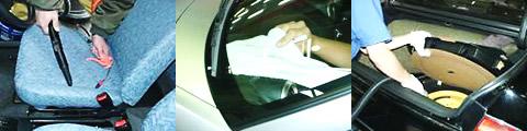 シート洗浄〜プラスチックパーツ洗浄〜フロアカーペット清掃